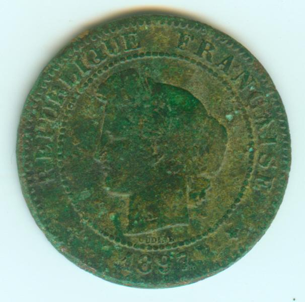 5 centimes 1897 A 5ct18911