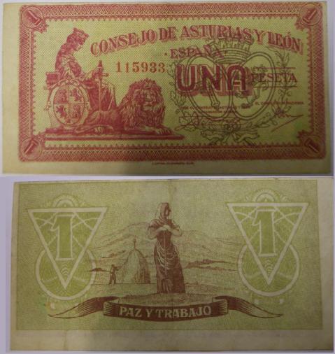 Una peseta, consejo de Asturia y León 116