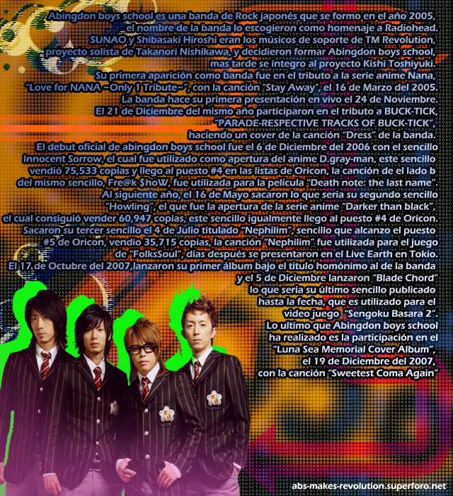 Abingdon Boys School Biografía -PARA SABER UN POCO MAS DE ELLOS \(*W*)/ Biogra10