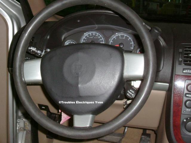 Chevrolet Uplander 2005 Airbag maquillé Garage12