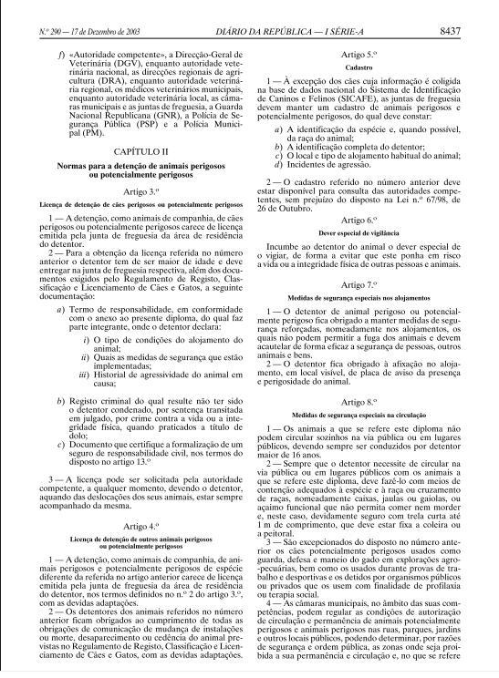 DECRETO LEI 312-2003, DE 17 DE DEZEMBRO Ll11
