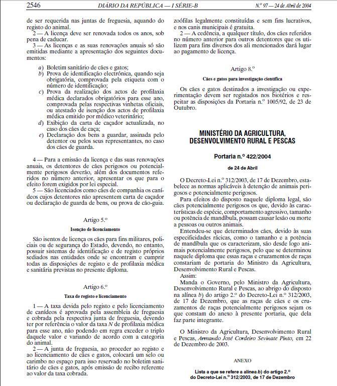 PORTARIA 422-2004 DE 24 DE ABRIL Lll10
