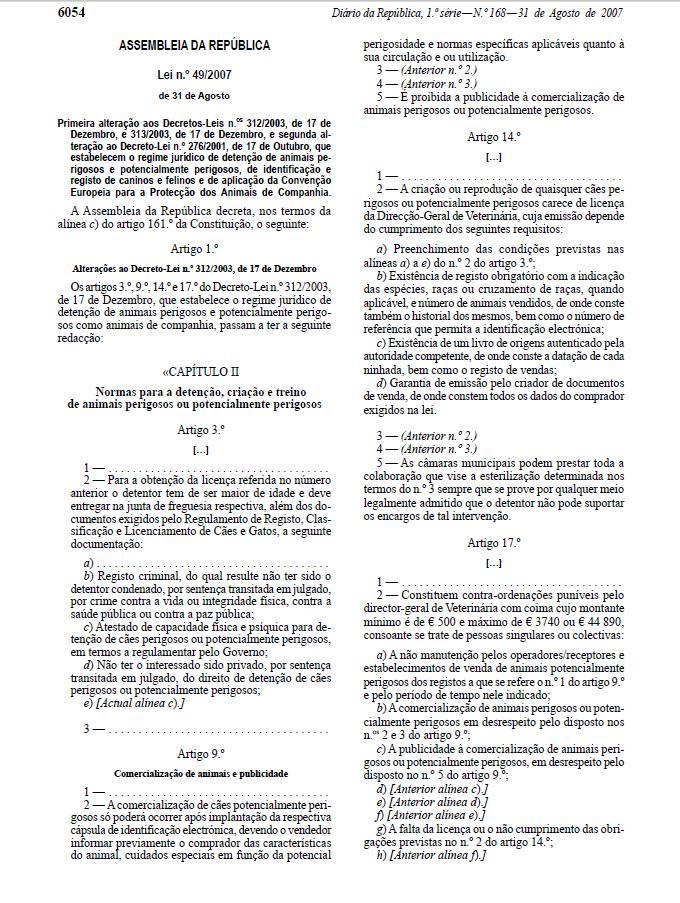 LEI 49-2007 DE 31 DE AGOSTO Lll13