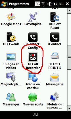Application HTC - IN CALL RECORDER (I.R.C.) - Pour enregistrer les conversations téléphoniques Screen11