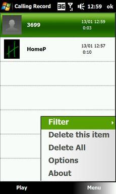 Application HTC - IN CALL RECORDER (I.R.C.) - Pour enregistrer les conversations téléphoniques Screen14