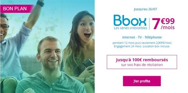 Bouygues Telecom lance une offre Bbox à 7,99€/mois pendant 12 mois Bbox7911