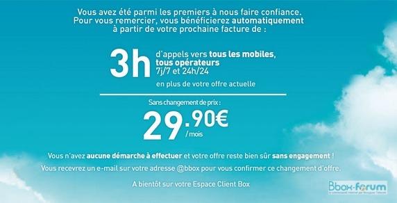 Changement de tarifs et appels mobiles inclus Chgtta10