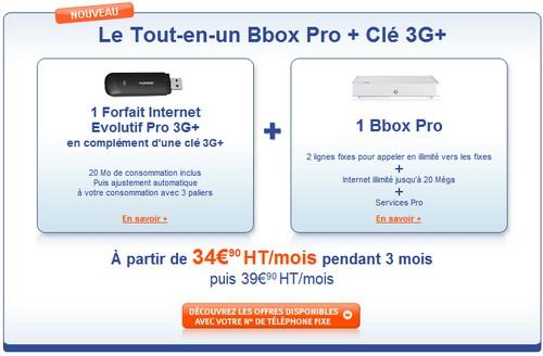 Le Tout-en-un Bbox Pro + Clé 3G+ Offrep10