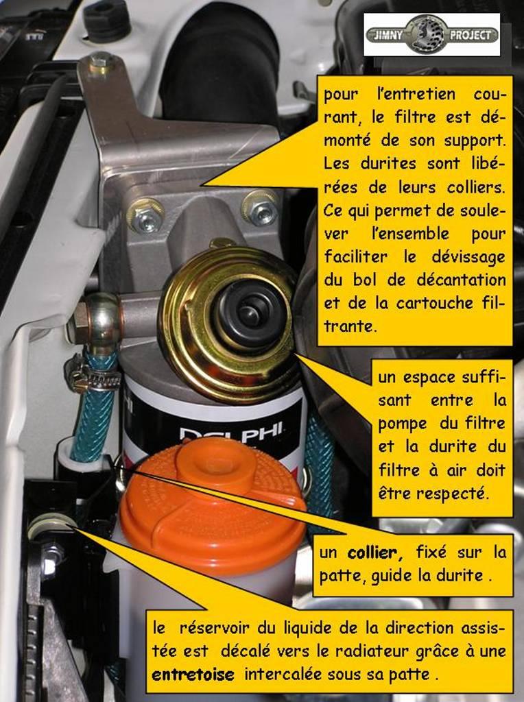installation d'un pre-filtre a gasoil sur jimny ddis R_filt15