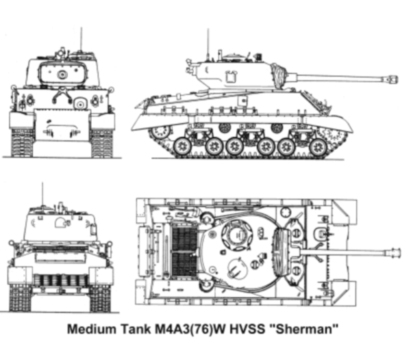 sherman hvss 1/35 italerie conversion azimut M4a37611