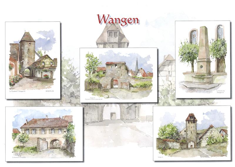 Les nouvelles cartes postales de Wangen signées Jean-Robert Badia Peintu10