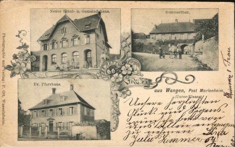 cartes postales - Cartes postales anciennes de Wangen Vue_110