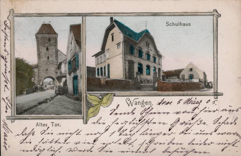 cartes postales - Cartes postales anciennes de Wangen Vue_1110
