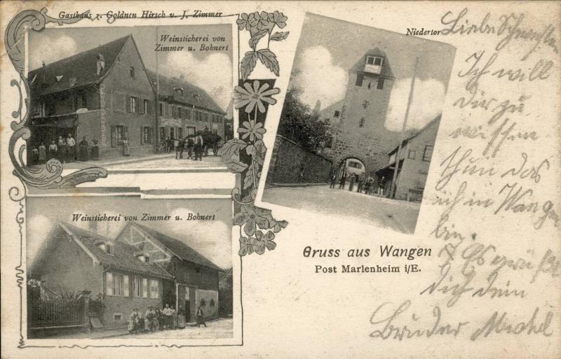 cartes postales - Cartes postales anciennes de Wangen Vue_310