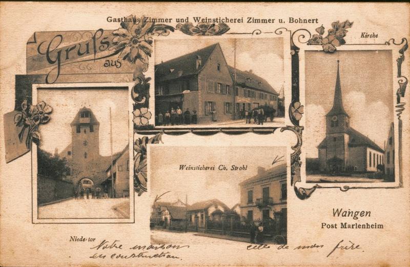 cartes postales - Cartes postales anciennes de Wangen Vue_410
