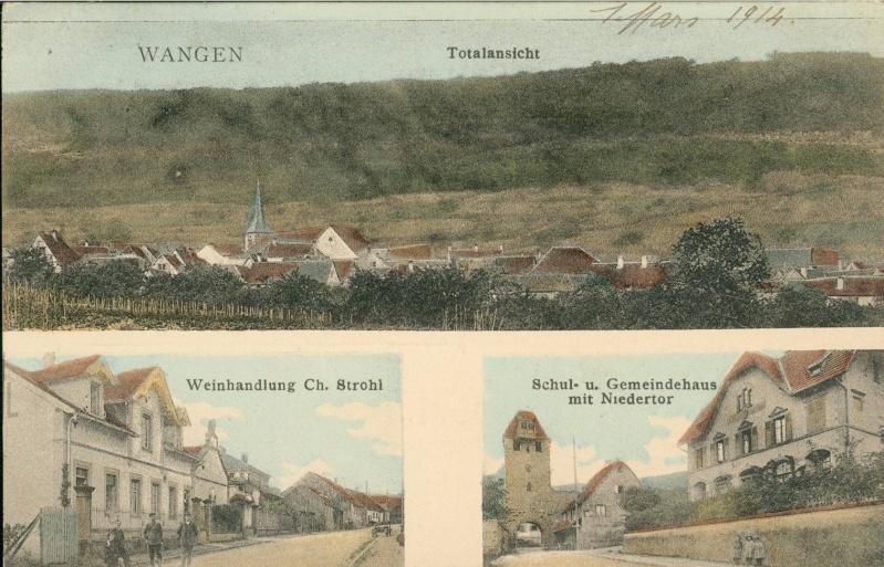 cartes postales - Cartes postales anciennes de Wangen Vue_710