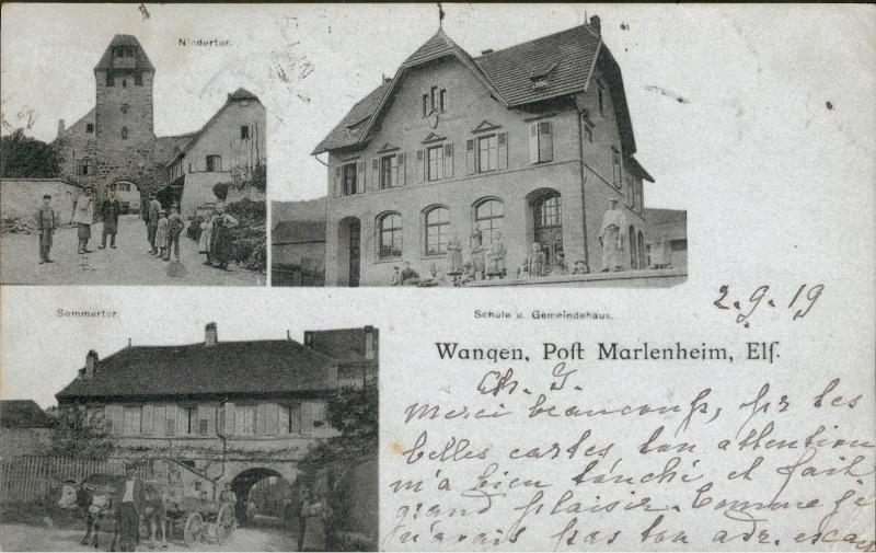 cartes postales - Cartes postales anciennes de Wangen Vue_910