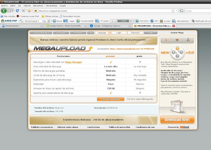 Como descargar de Megaupload, Tutorial By ElMg Wala10