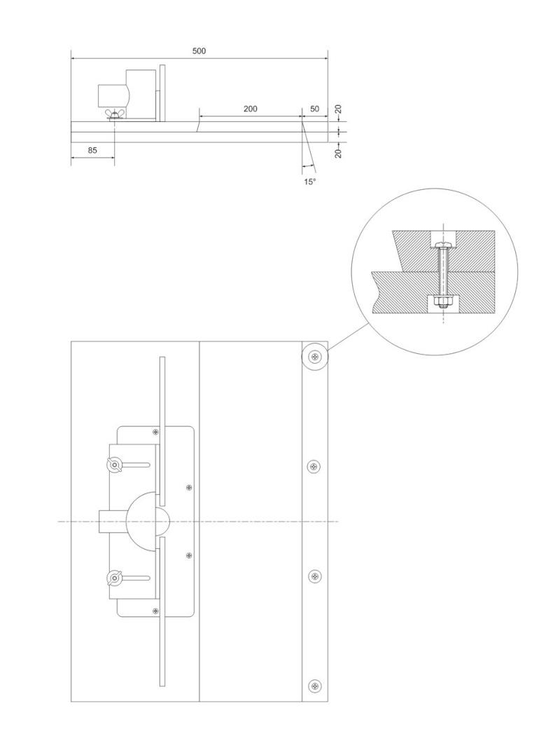 Une table de défonceuse avec chariot T211