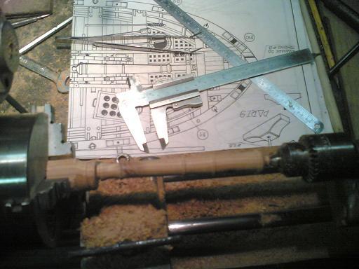 Invecchiamento cannoncino in legno. Finito10