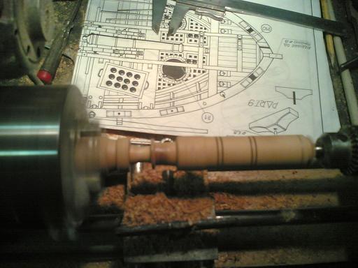 Invecchiamento cannoncino in legno. Inizio10