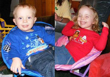 NATALIE ALEXIS (Aged 5 years) & JONATHAN CHASE (Aged 3 years) DEBLASE - Mobile, Alabama (USA) Db10