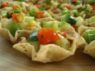 Salsa automnale en coquilles de maïs scoops 09090110