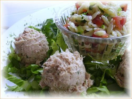 Salade de pâtes orzo, saveur basilic 313