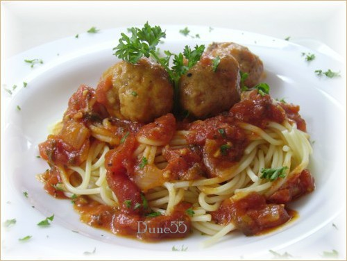 Boulettes de veau à la sauce tomate express 54455210