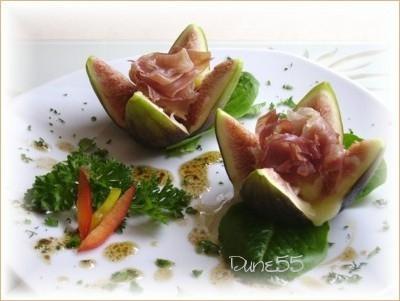 Figues prosciutto-fromage et vinaigrette huile-Balsamique Figue10