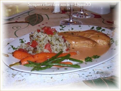 Suprêmes de poulet, sauce rosée au fromage Pict0014