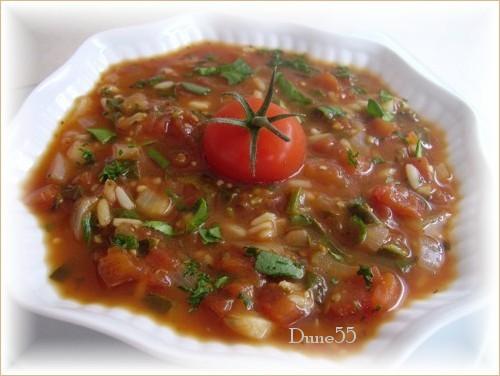 Soupe aux tomates, épinards et riz Pict9931