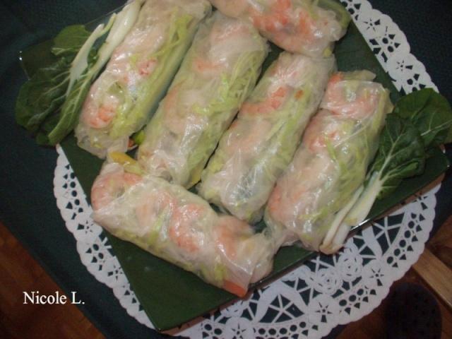 Rouleaux de printemps aux crevettes (nems) vietnamiens Roulea10