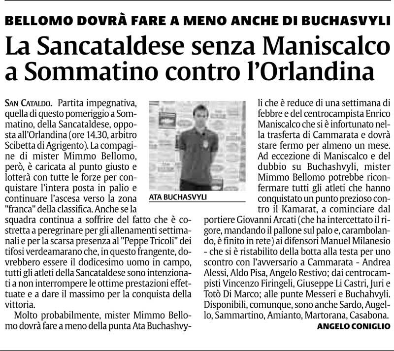 Campionato 13° giornata: Sancataldese-Orlandina 0-0 12311