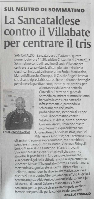 Campionato 11° giornata: Sancataldese - Villabate 4-2 271