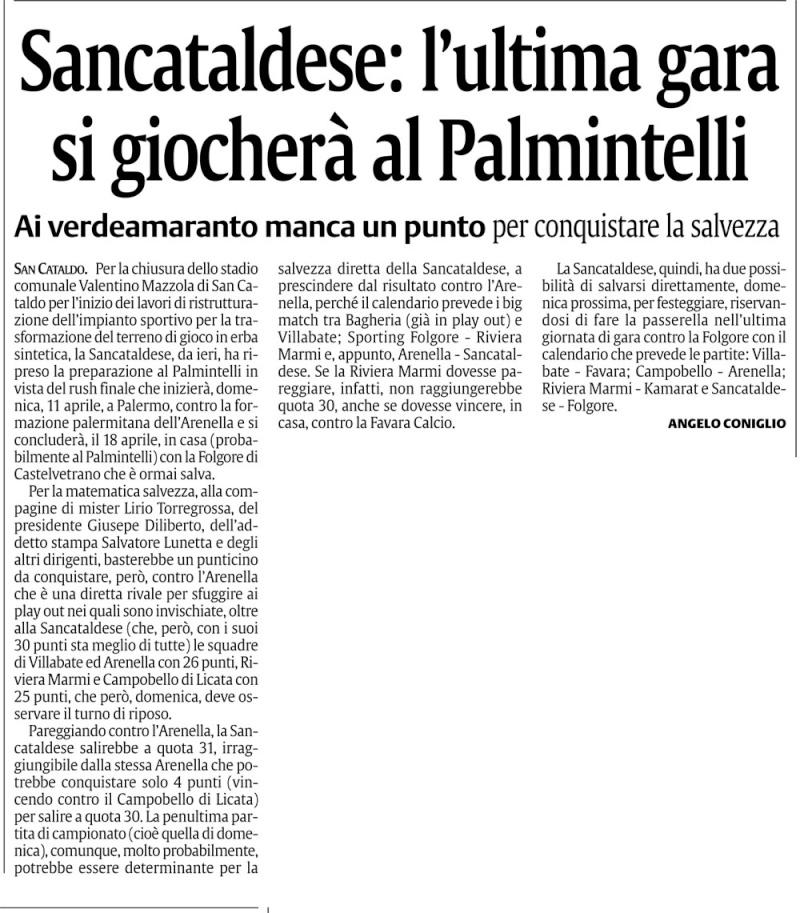 Campionato 29° giornata:Sporting Arenella - Sancataldese 1-1 Cn22sc10
