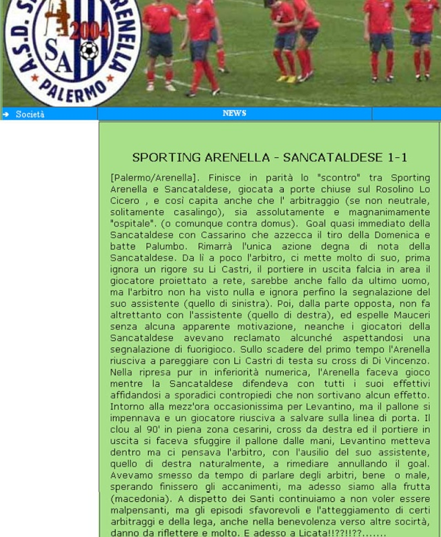 Campionato 29° giornata:Sporting Arenella - Sancataldese 1-1 New_ar11
