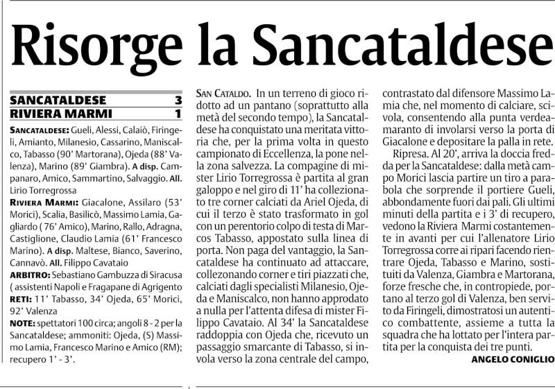 Campionato 22° giornata: Sancataldese - Riviera Marmi 3-1 Sancri12