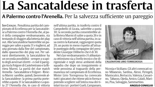 Campionato 29° giornata:Sporting Arenella - Sancataldese 1-1 Sc2211