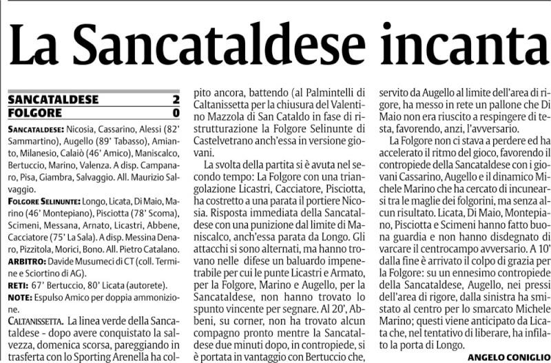 Campionato 30° giornata:Sancataldese - Folgore Selinunte 2-0 Scfg10