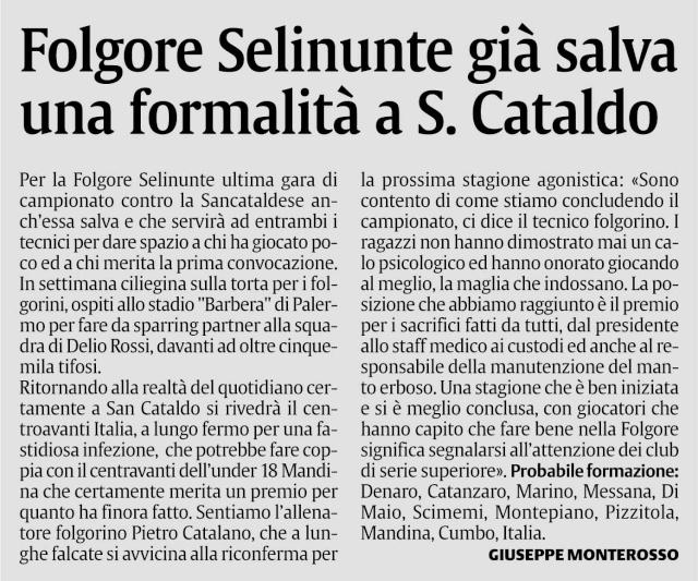 Campionato 30° giornata:Sancataldese - Folgore Selinunte 2-0 Scfolg10