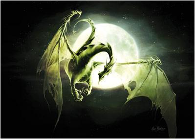 Dragons verts Lune111