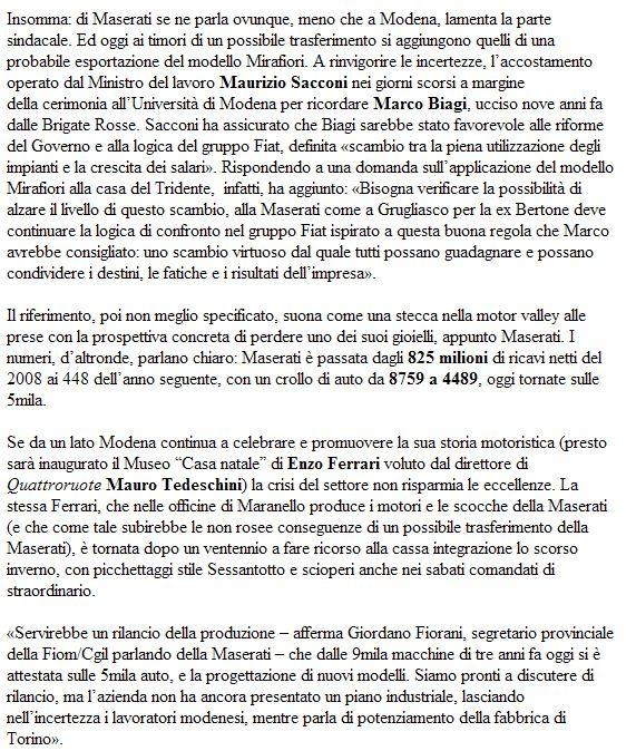 Grossa novità Maserati  Mase110