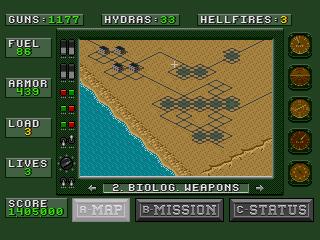 [MegaDrive] Desert Strike: Return to the Gulf 1212