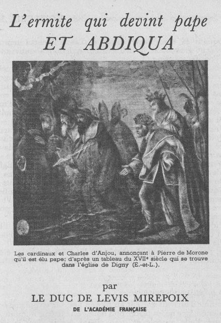 L'ermite qui devint pape ET ABDIQUA Bureau45