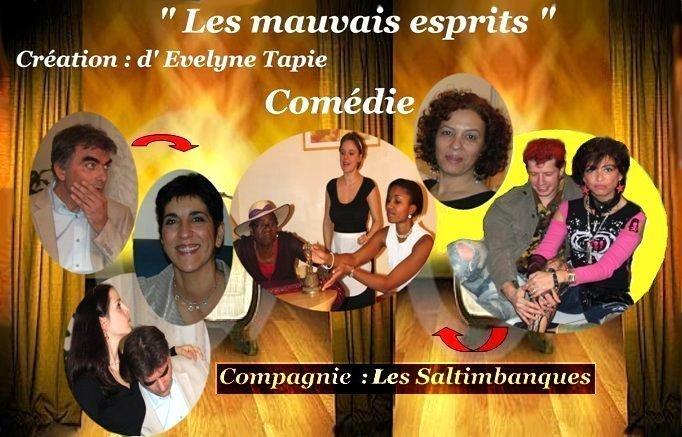 """Synopsis de la pièce d'Evelyne Tapie : """"Les mauvais Esprits"""""""