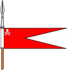 Bandeirolas das Lanças da Cavalaria Portuguesa, desde o século XIX Rl210