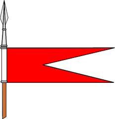 Bandeirolas das Lanças da Cavalaria Portuguesa, desde o século XIX Rll10
