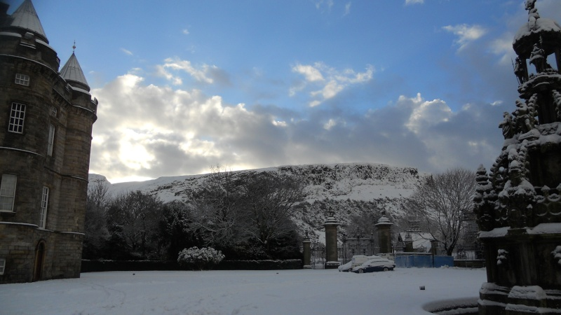 Photographie : Neige sur Holyrood Park 01110