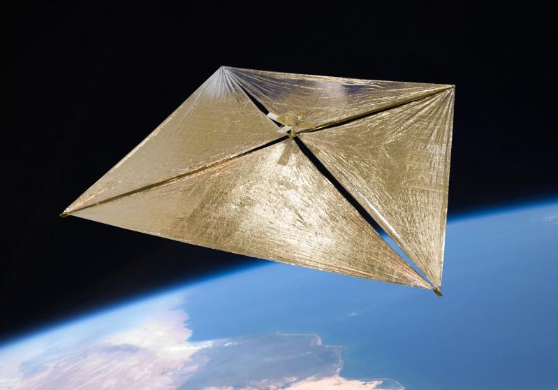 La voile solaire NanoSail-D2 Nanosa10